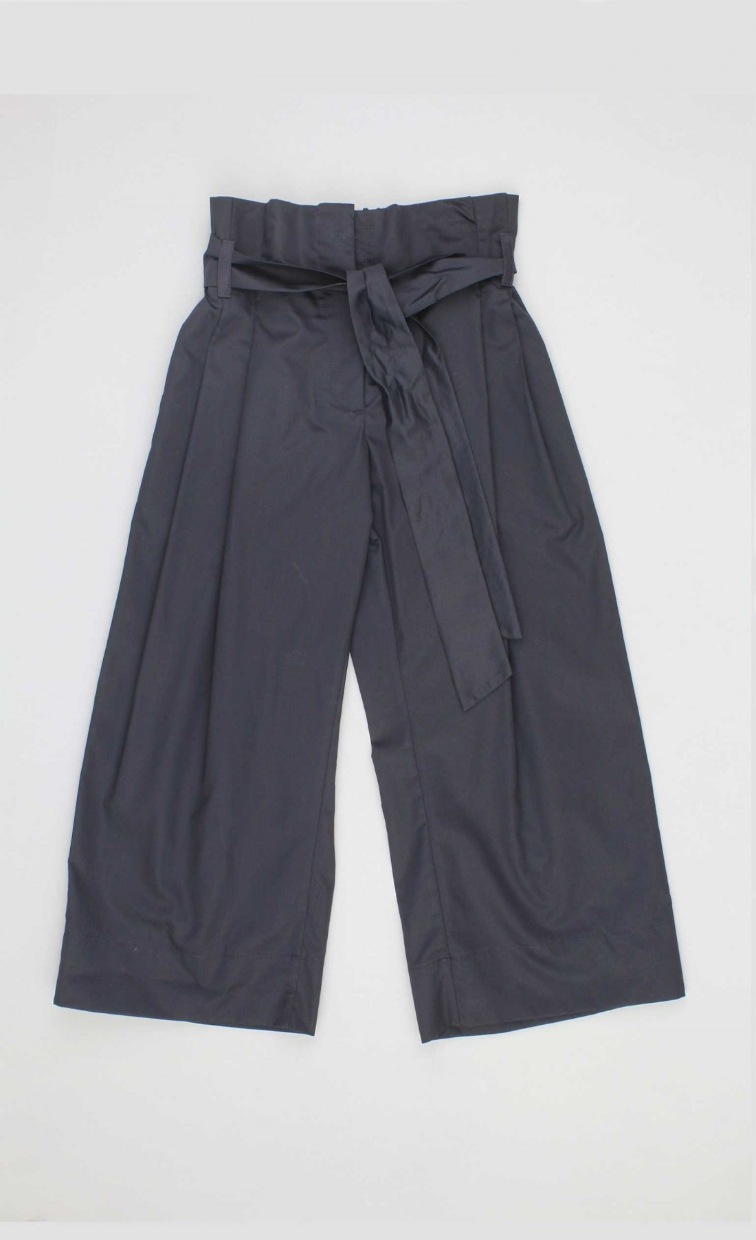 Pantaloni coulotte in cotone blu