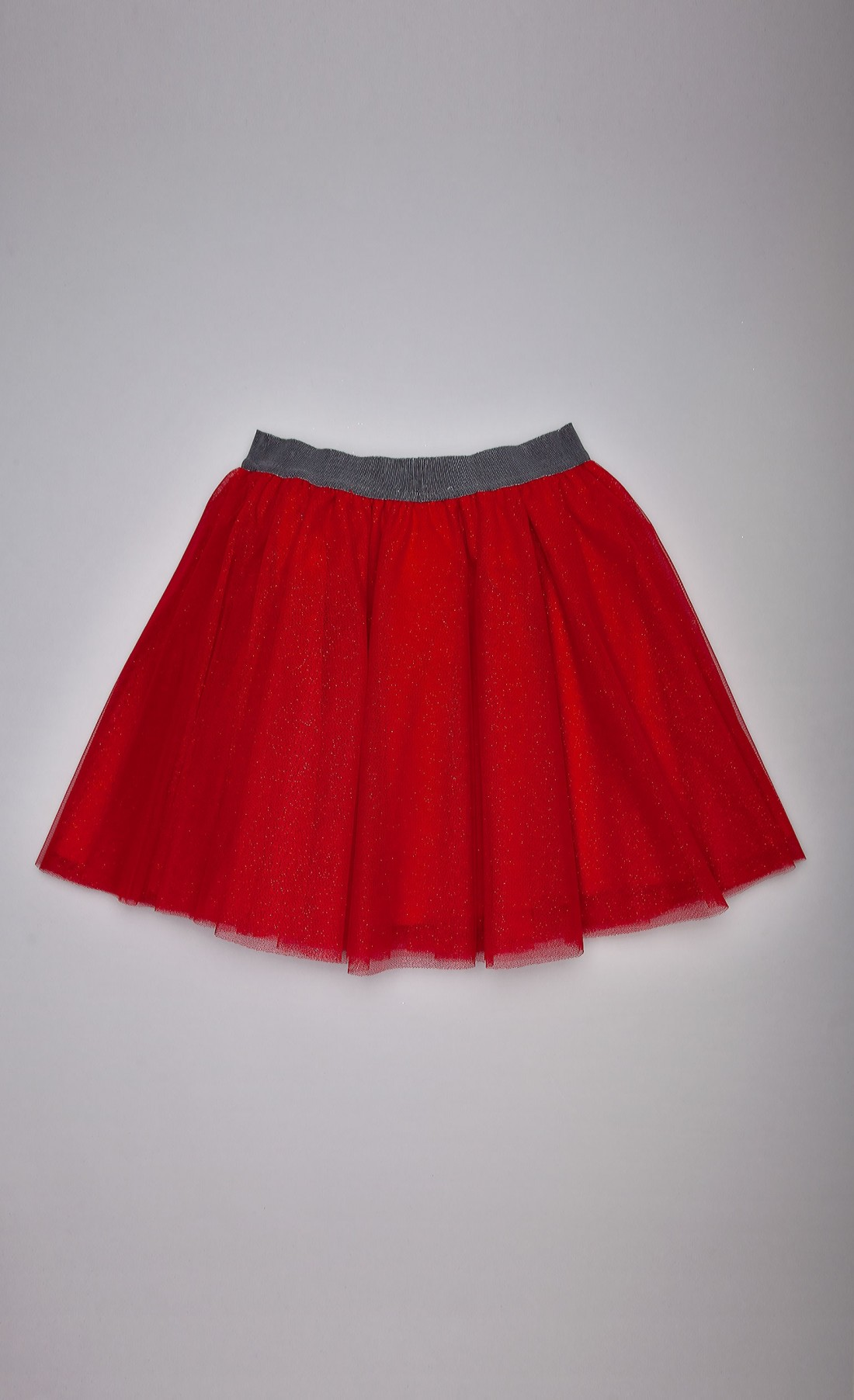Gonna in tulle rosso rubino lurex