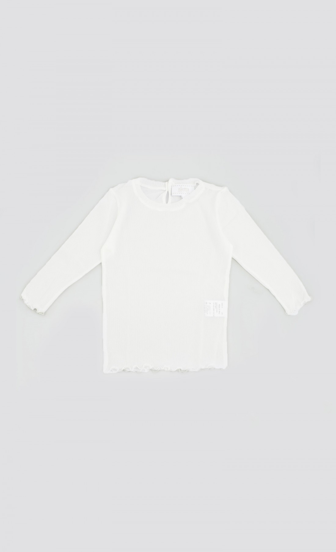 T-shirt basica in tulle bianco