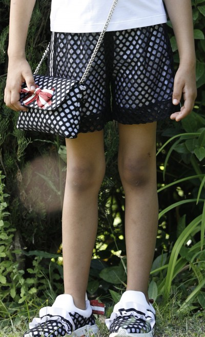 Originale short in tulle a rete nero