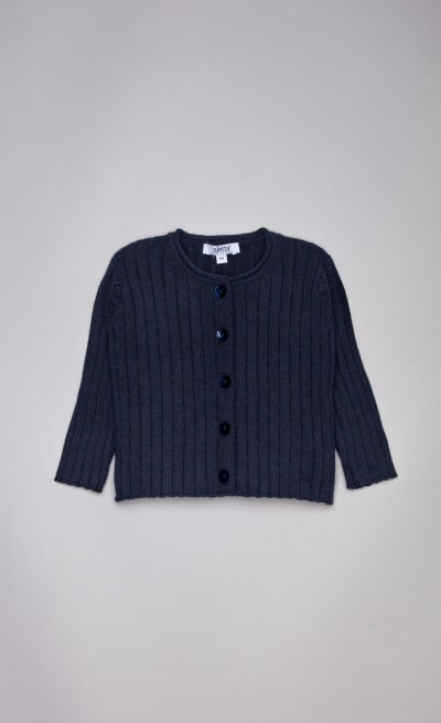 Cardigan in misto viscosa blu navy
