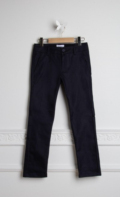 Pantaloni in cotone stretch blu
