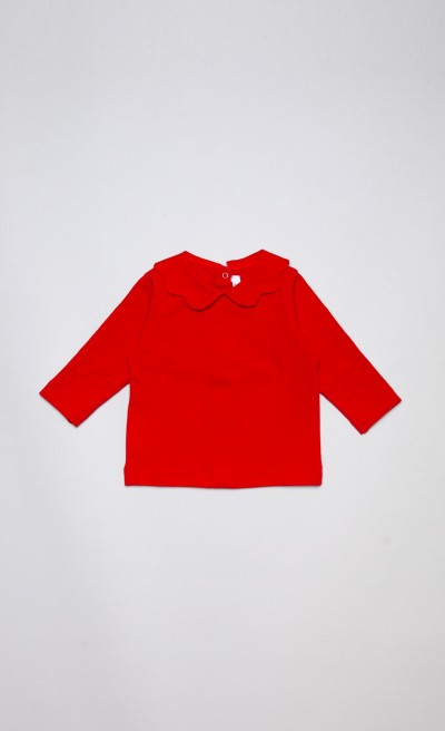 T-shirt in cotone stretch rosso