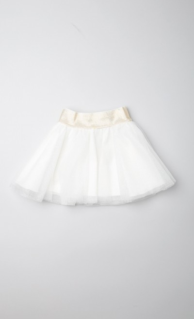 Gonna in tulle panna lurex