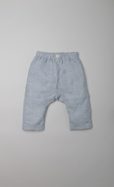 Pantaloni baggy light blue