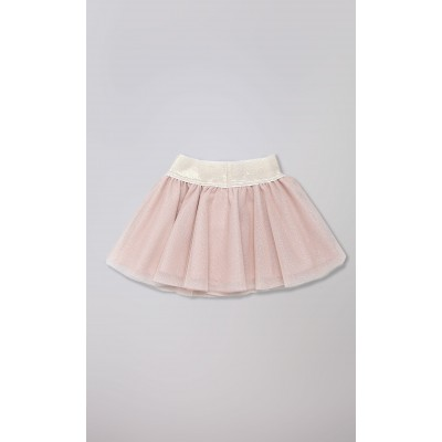 Gonna in tulle rosa lurex