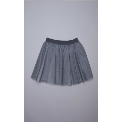 Gonna in tulle grigio lurex