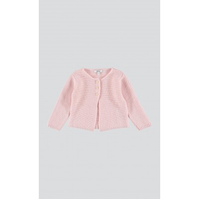 Cardigan misto lana rosa chantilly