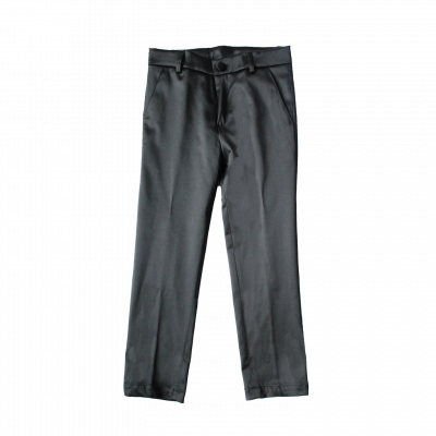 Pantaloni slim fit in raso nero