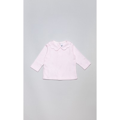 T-shirt in cotone stretch rosa