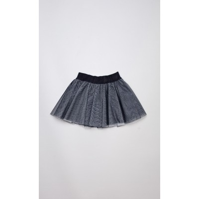 Gonna in tulle blu notte lurex