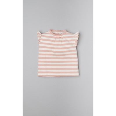 T-shirt a righe color bianco latte e phard