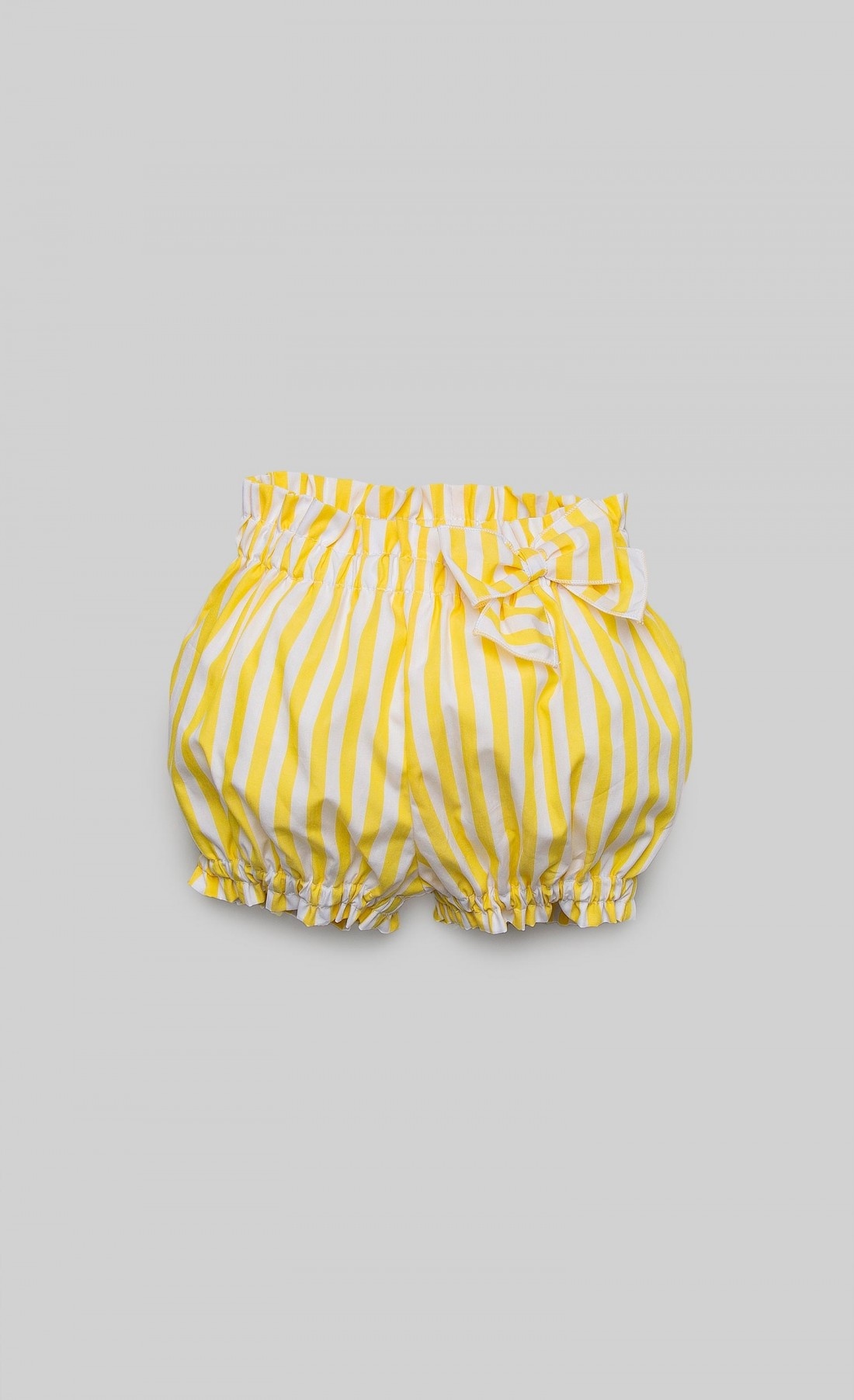 White and yellow striped culottes