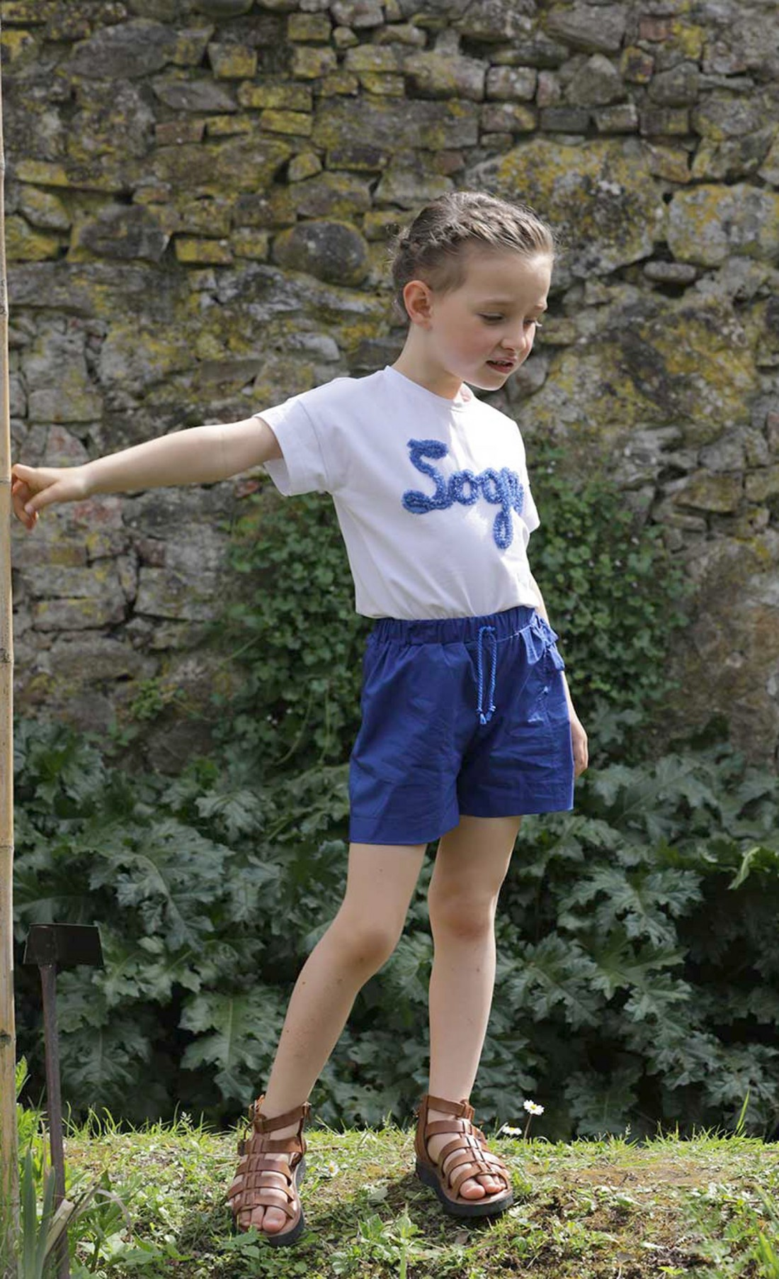 Bluette shorts with side frill