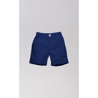 Short trousers in blue cotton