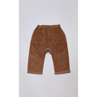 Pantaloni baggy in velluto a coste biscotto