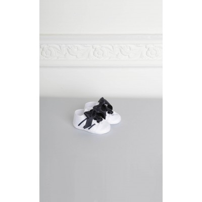 White cradle sneakers with blue details